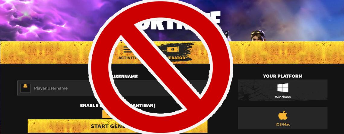 Fortnite: Achtung! Fallt nicht auf V-Bucks Generatoren wie 12site rein
