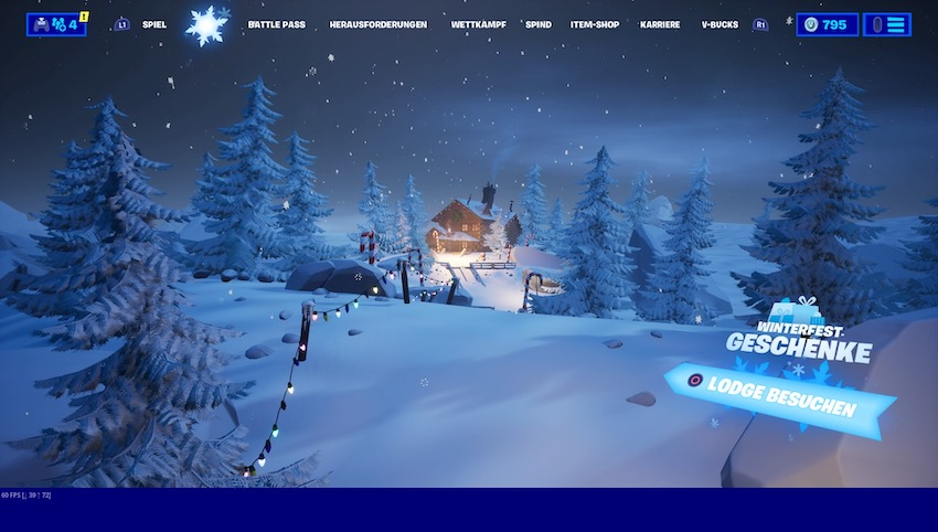 Fortnite-Weihnachts-Lobby