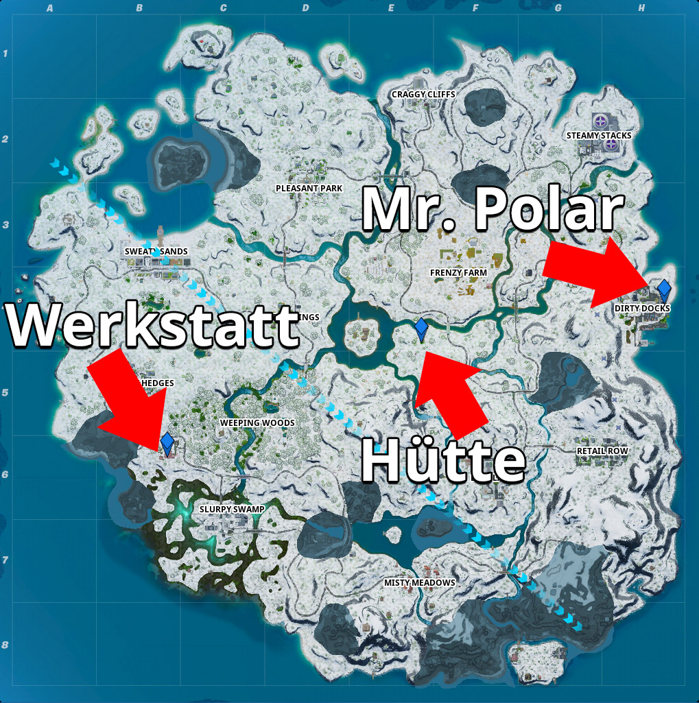 Fortnite Werkstatt Hütte Mr Polar Map