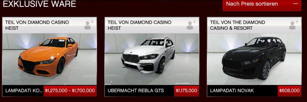 GTA Online Casino Heist Legendary Neue Autos