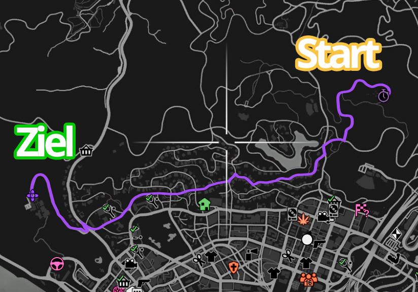 GTA Online Galileo Park Strecke