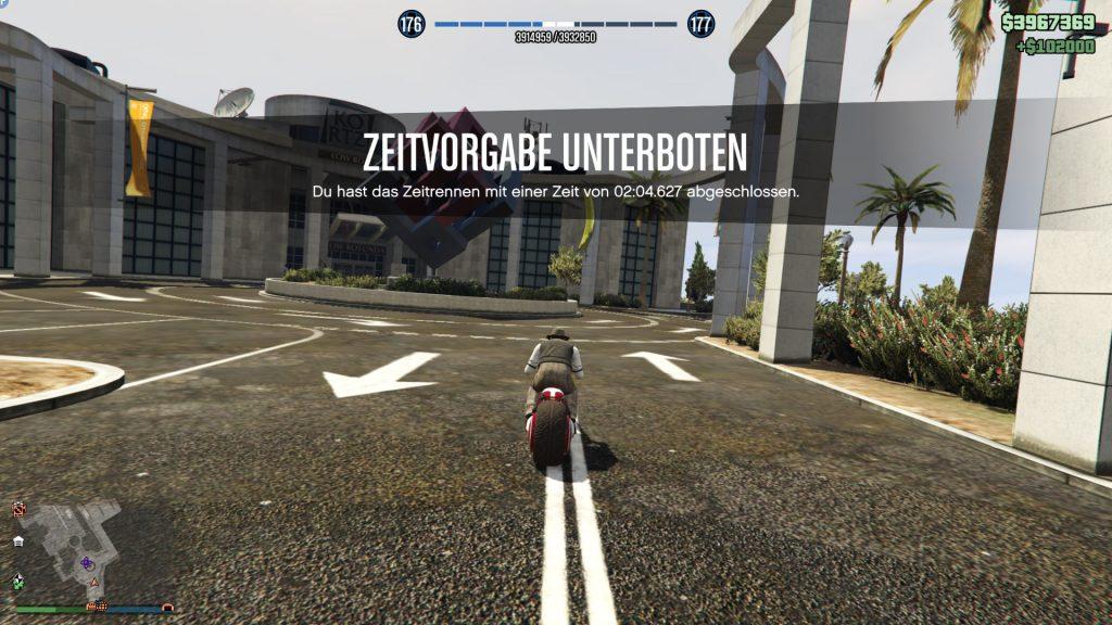 GTA Online Galileo Park Ziel Screen