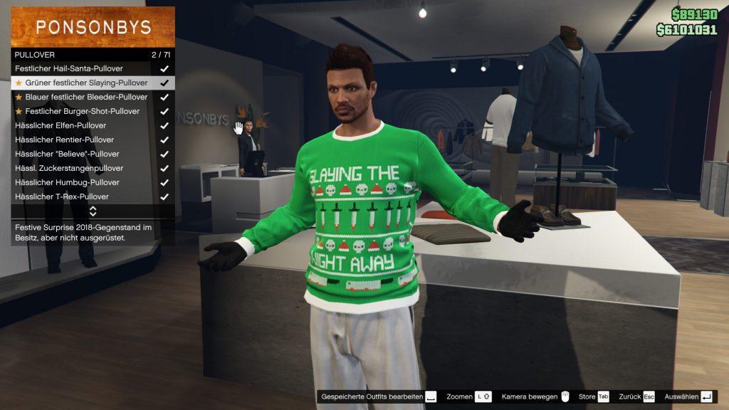 GTA Online Geschenk Pullover 1