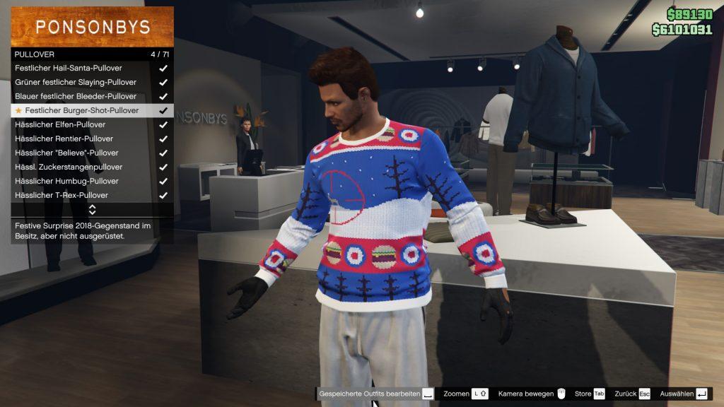 GTA Online Geschenk Pullover 2