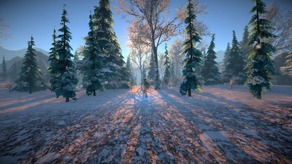 Eine Winterlandschaft in Inferna