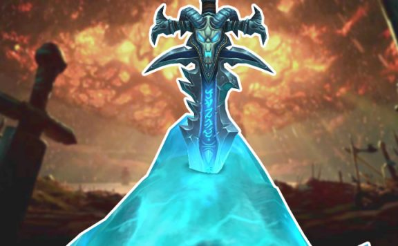 World of Warcraft Frostmourne im Eis Titel