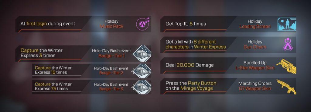 apex legends holo day challenges und belohnungen