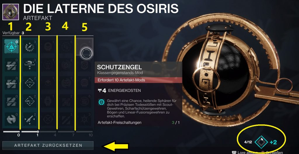 Laterne des Osiris destiny 2