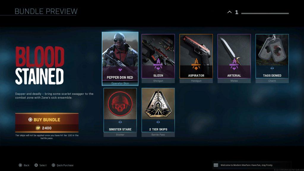 cod modern warfare bundle zane