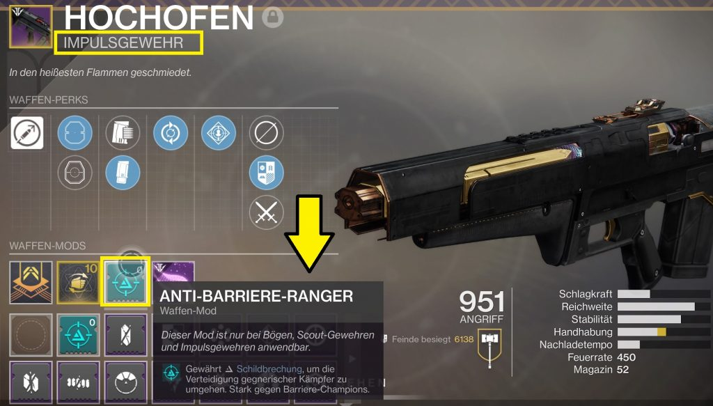destiny anti barriere ranger