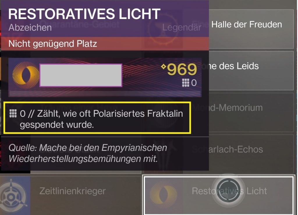 Emblem Fraktalin Destiny 2
