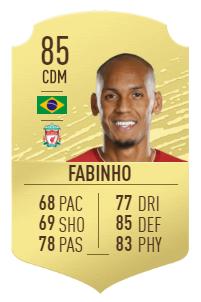 Platz 2 - Fabinho - Gold-Karte (85)