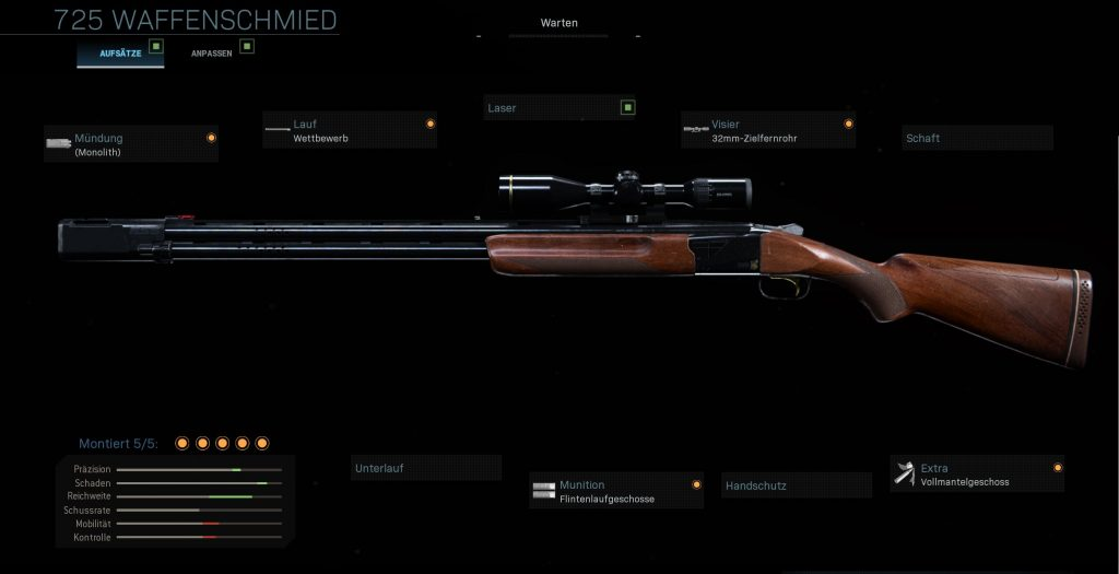 Call fo Duty Modern Warfare 725 Sniper