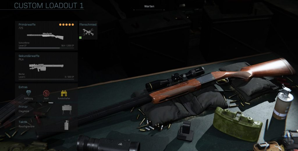 Call fo Duty Modern Warfare 725 Sniper build