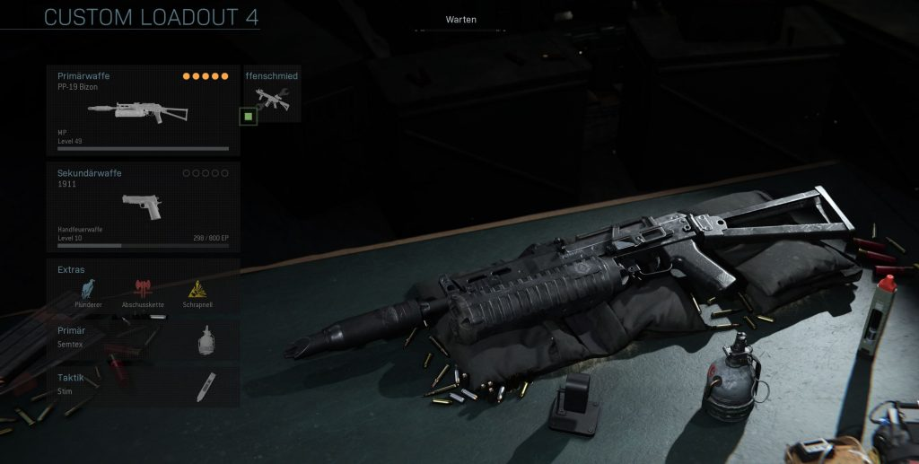Call fo Duty Modern Warfare Bizon MG Build
