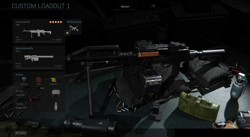 Call fo Duty Modern Warfare Camper PKM Build