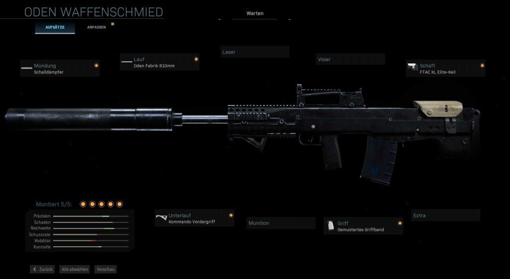 Call fo Duty Modern Warfare Oden OP Build