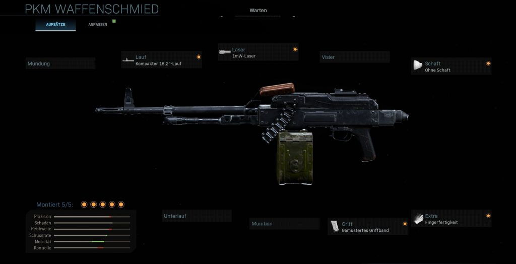 Call fo Duty Modern Warfare PKM MP