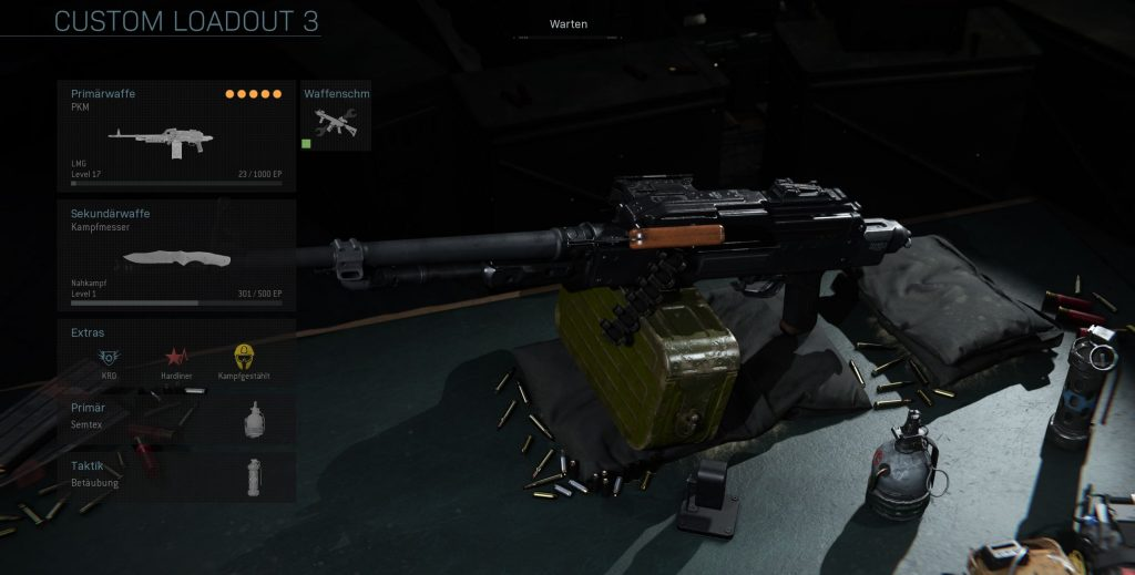 Call fo Duty Modern Warfare PKM MP Build
