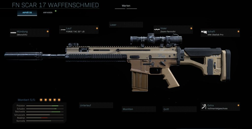 Call fo Duty Modern Warfare Scar DMR