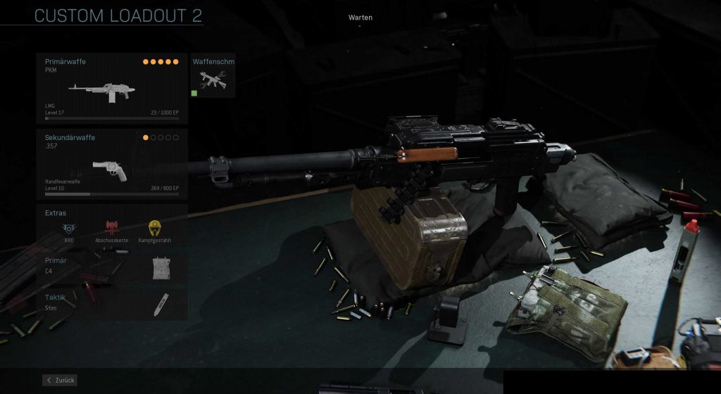 Call fo Duty Modern Warfare Stürmer PKM Build
