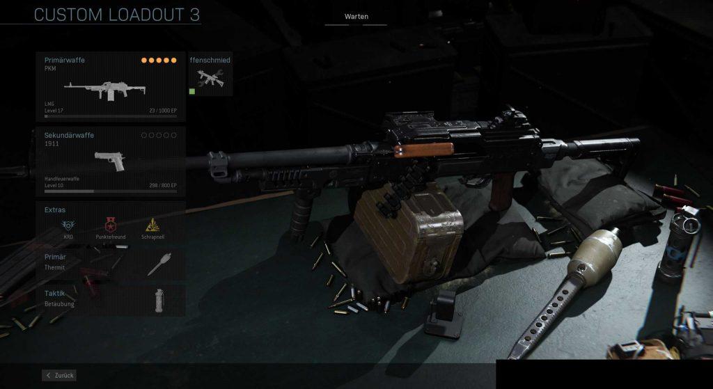 Call fo Duty Modern Warfare Support PKM Build