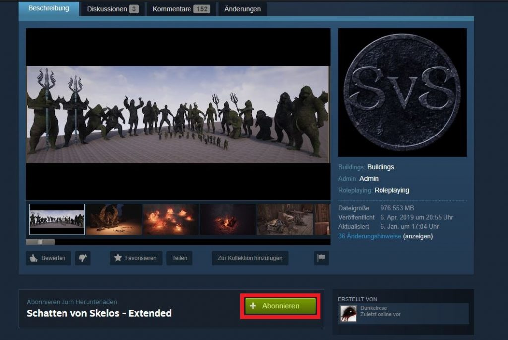 Conan Exiles Schatten von Skelos Steam Mod