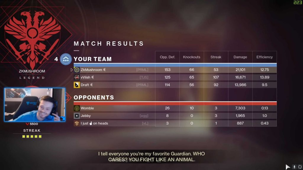 Destiny 2 153 Kills