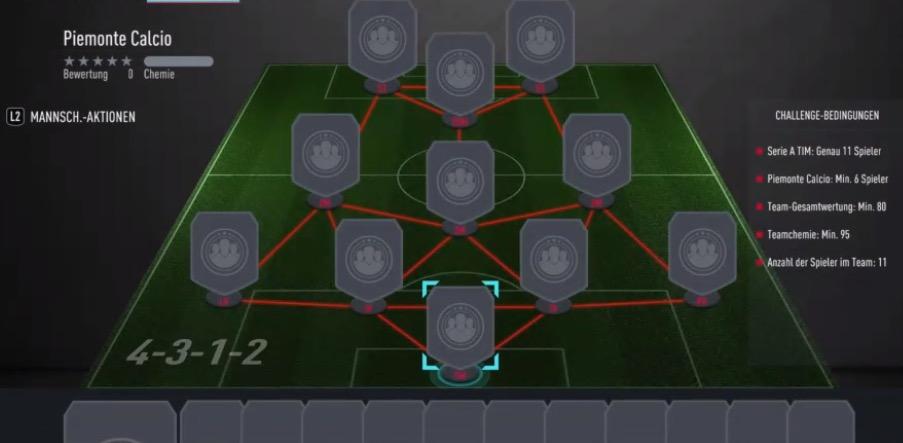 FIFA 20 Piemonte SBC