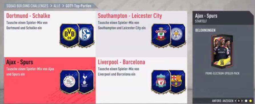 FIFA 20 SBC rewards