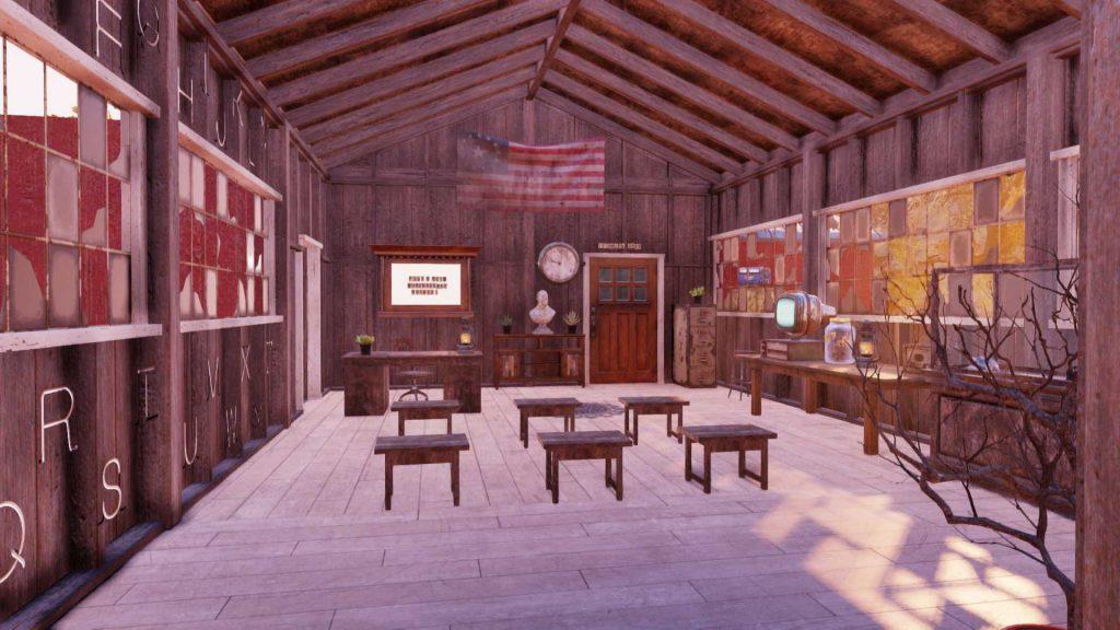 Fallout 76 Mathe Camp Klassenzimmer