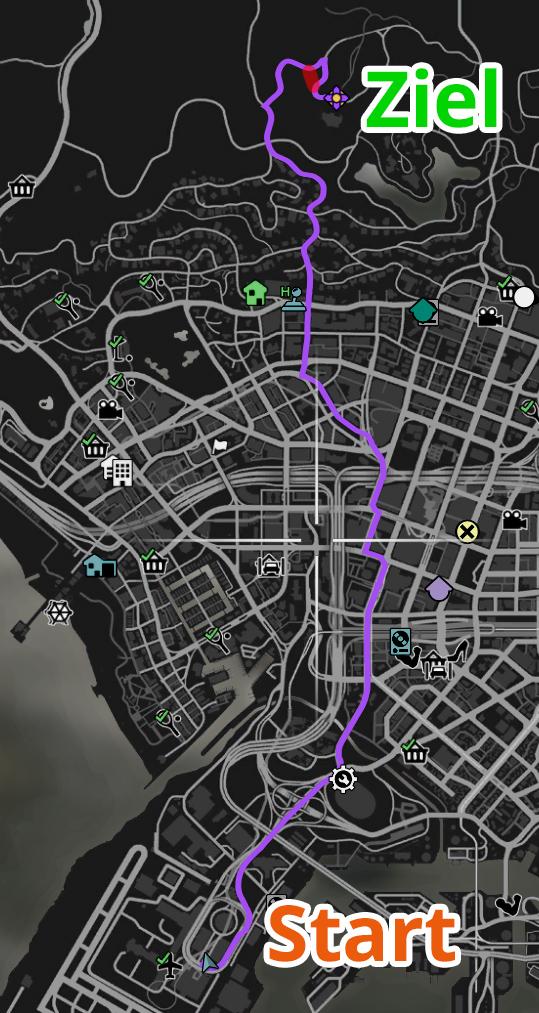 GTA Online Los Santos Airport 2 Strecke