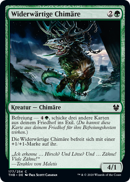 Die Karte Widerwärtige Chimäre aus Magic the Gathering
