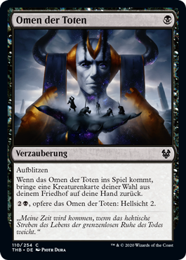 Die Karte Omen der Toten aus Magic the Gathering.