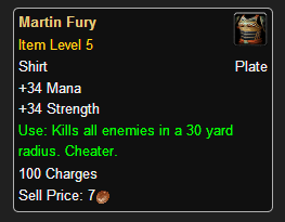 WoW Item Martin Fury