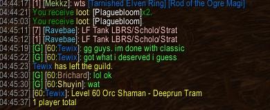 WoW PvP Bot Leaving Guild