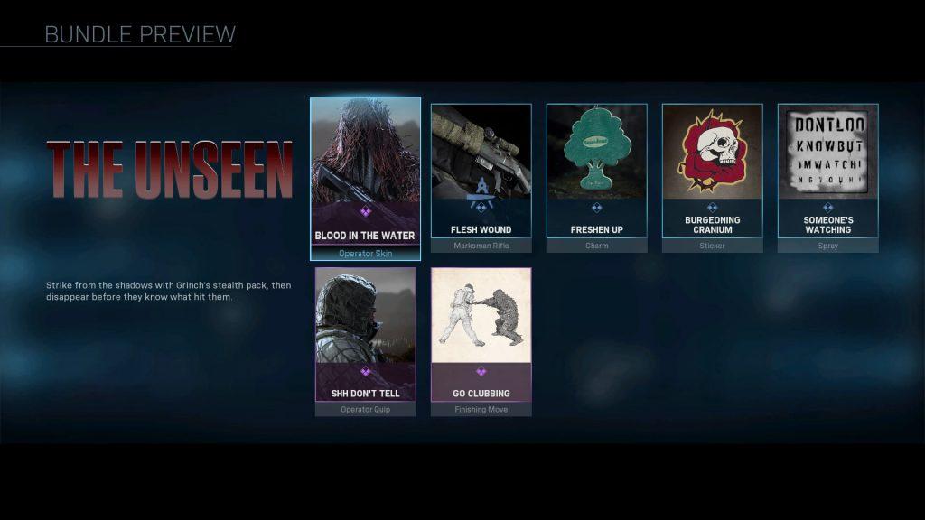 cod modern warfare bundle unseen