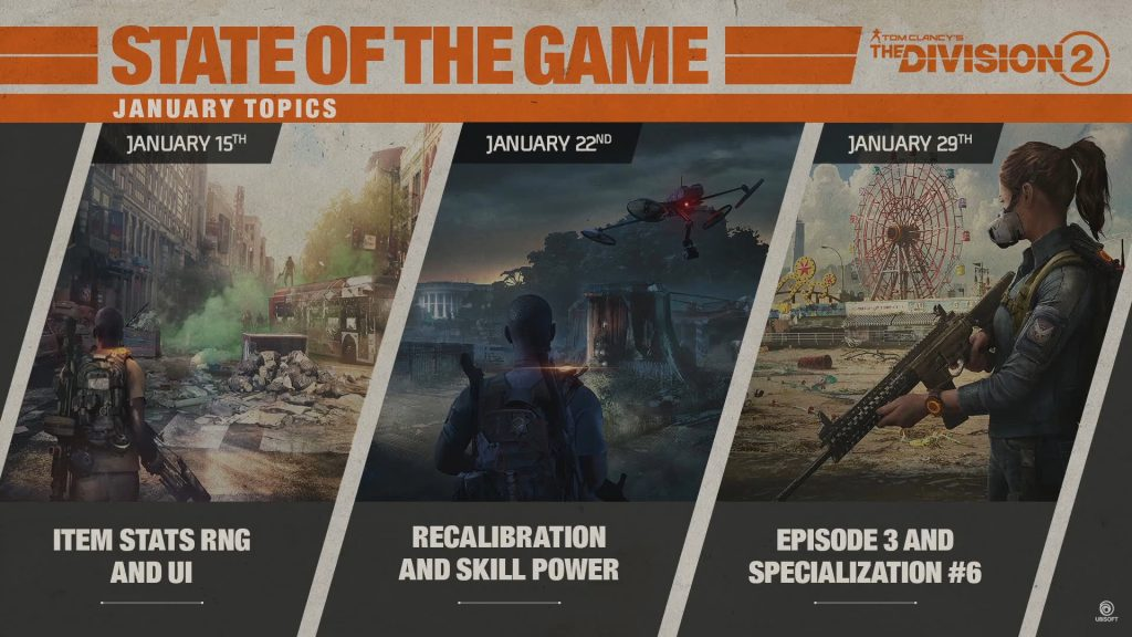 division 2 state of the game roadmap
