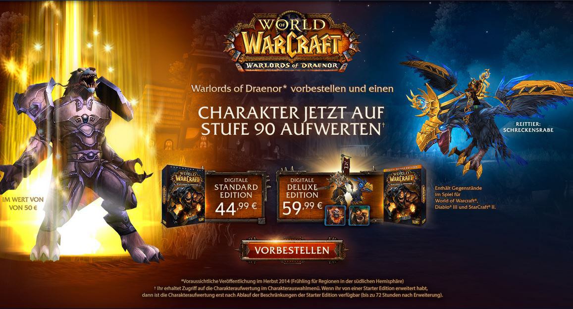 World of Warcraft: Vorverkauf von Warlords of Draenor startet