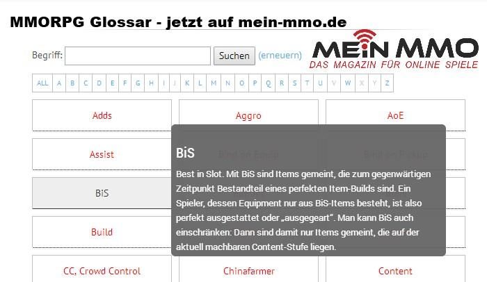 Der Mein-MMO.de-Glossar: Dein Begleiter in fremde Welten