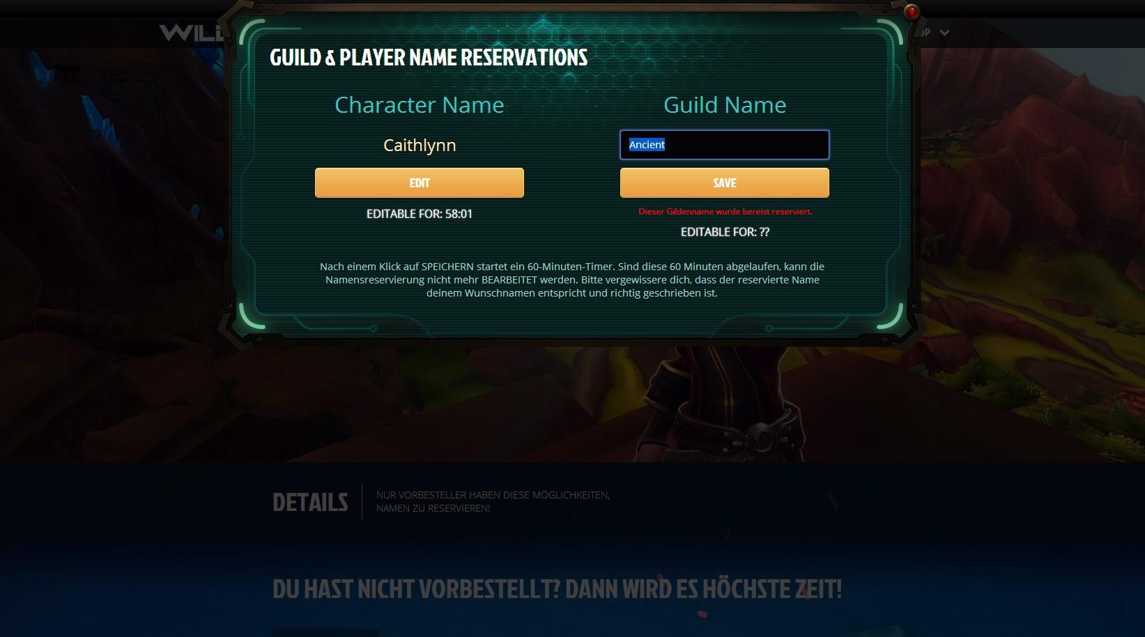 WildStar: Der Run auf die Namen für die Vorbesteller hat begonnen!