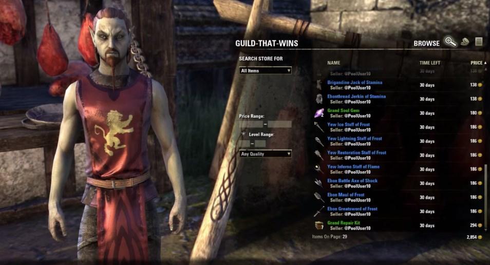 The Elder Scrolls Online: 122 Auktionatoren kommen, aber kein Auktionshaus