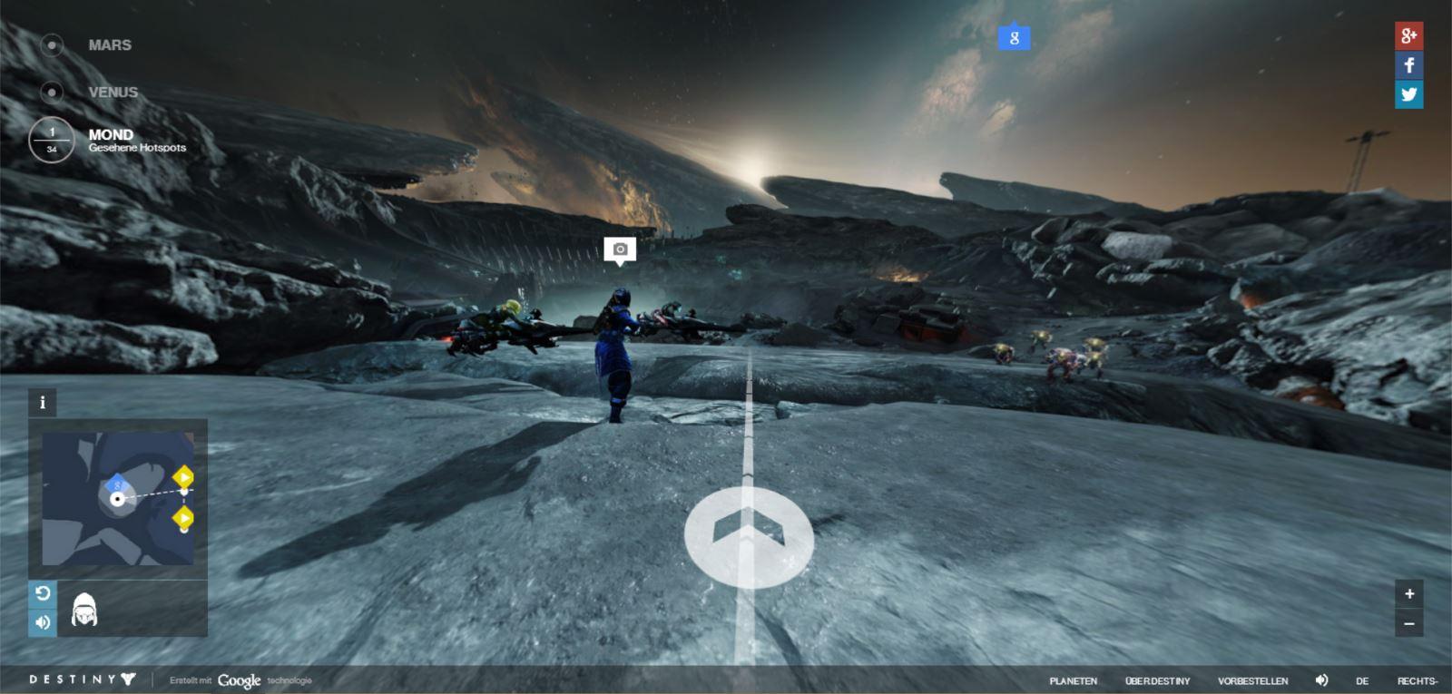 Destiny mit PR-Coup: Mond-Spaziergang dank Google Maps