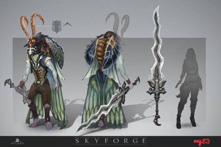 Skyforge: Neue Concept Art ist vieläugig und insektoid