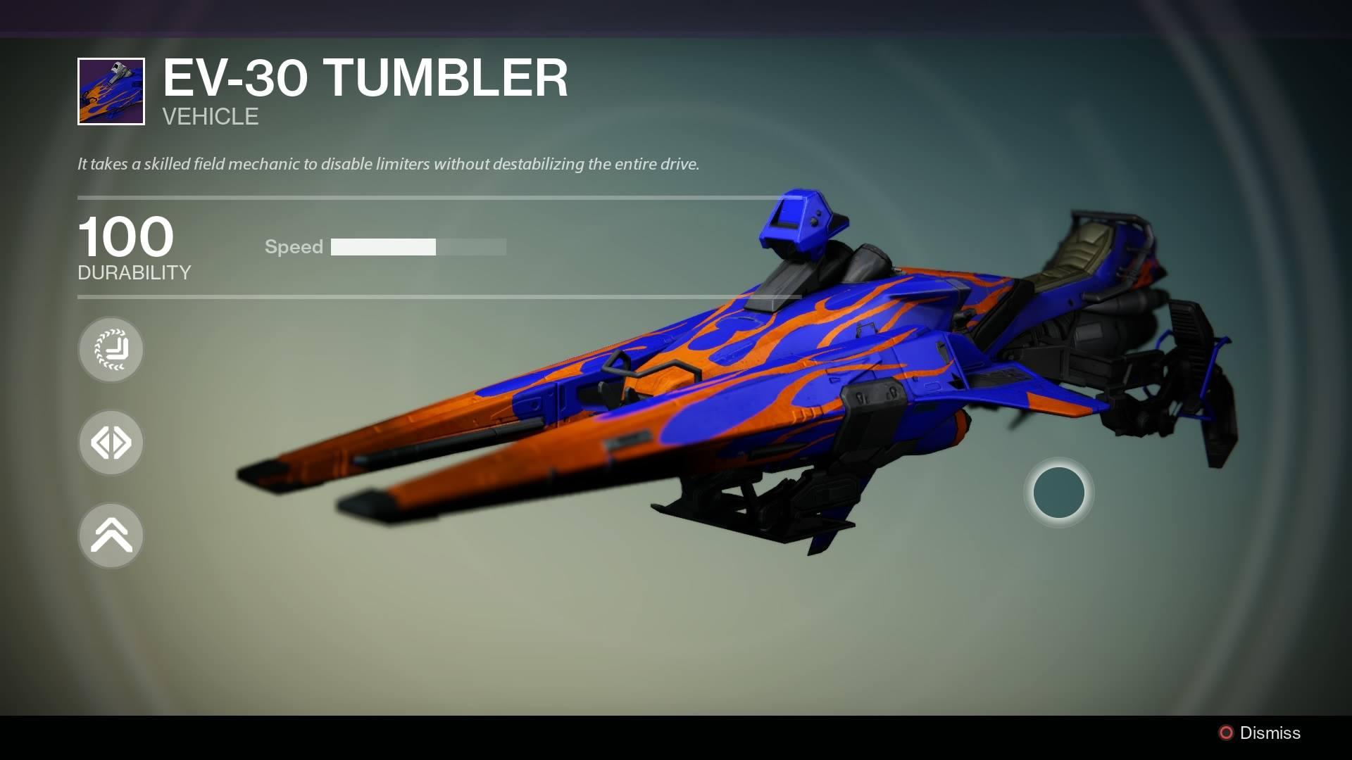 Destiny: Neuer Sparrow S-30-Tumbler hat versteckte Tricks und Moves drauf