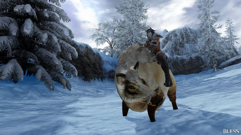 Bless wünscht gesegnete Weihnachten mit dem Santa Oger und seinen Goblin-Elfen