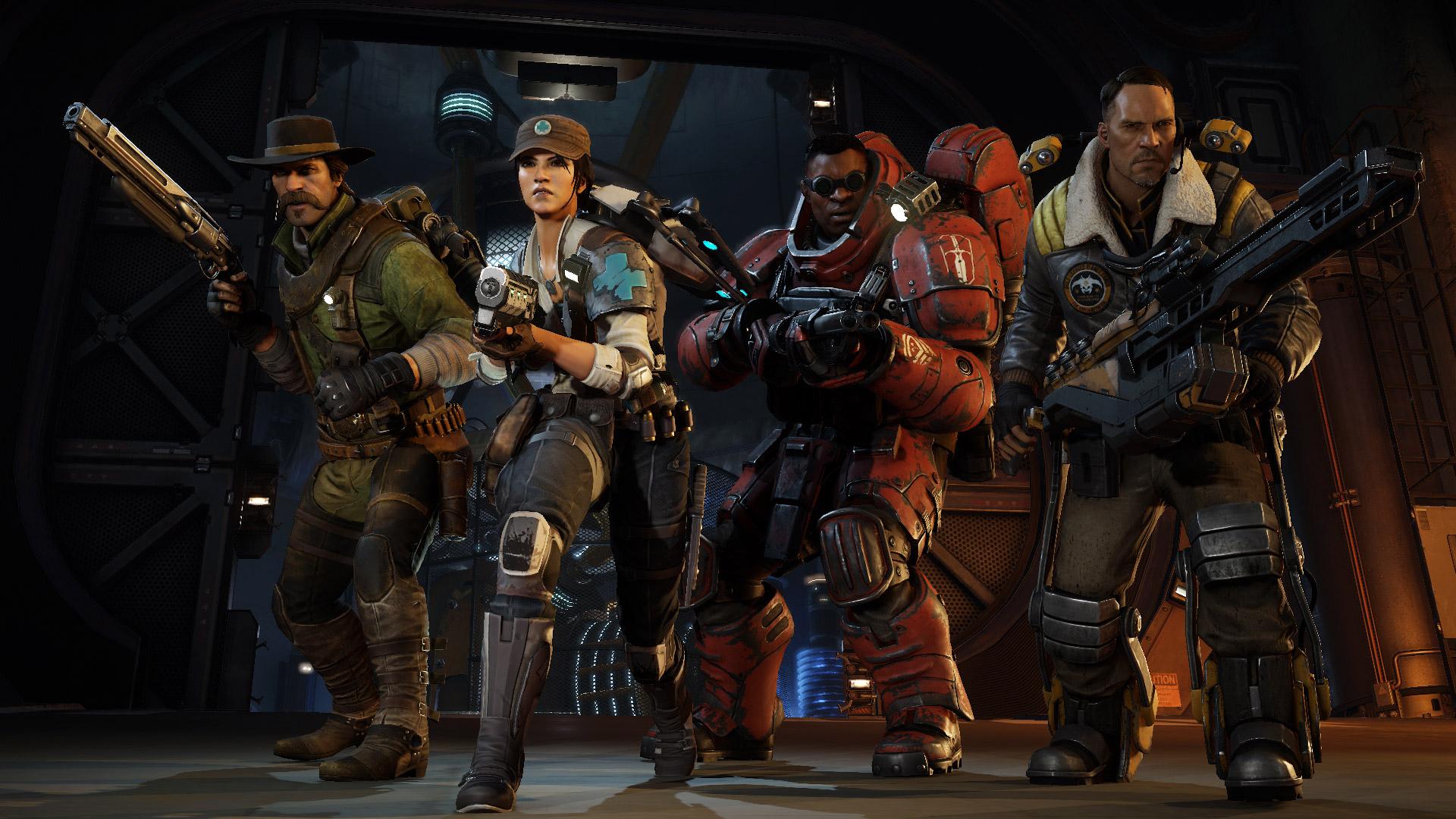 Evolve: Die letzten 4 Jäger: Abe, Parnell, Caira, Cabot