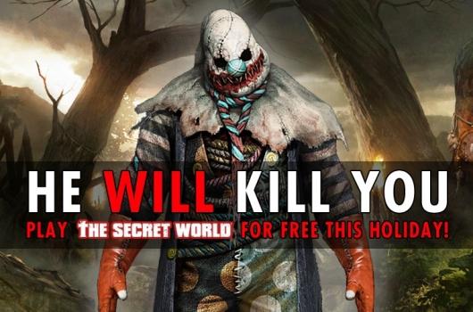 The Secret World gratis spielen: TSW verteilt mysteriöse 30-Freitage, droht mit Killer-Clown