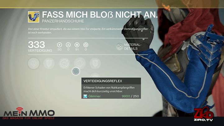 "Destiny: Exotische Jäger-Handschuhe ""Fass mich bloß nicht an"" verwandeln 1. Teil des Raids in Spaziergang"
