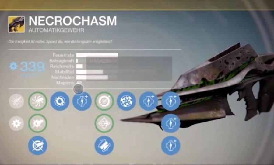 Destiny: Necrochasm – da ist das Ding – Crota-Exotic Necrochasm im Gameplay-Video